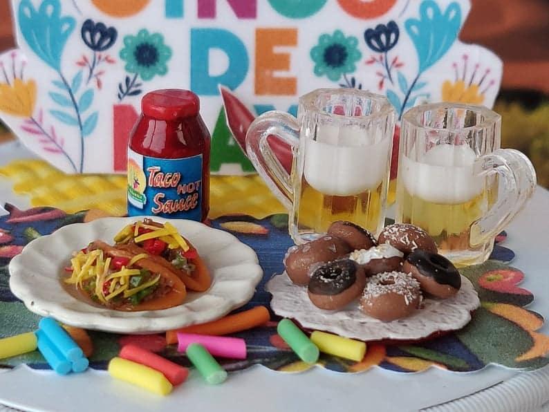 Tacos, donuts, beer