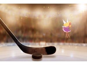 Tommy Tinker Visits A Hockey Themed Fairy Garden