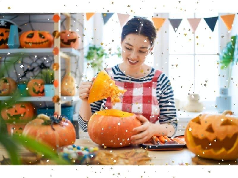 Tommy Tinker Enjoys Magical Pumpkin Carving